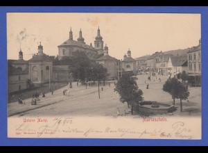 AK Österreich Mariaschein Unterer Markt 1902