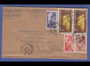 Vietnam 1954 Deutsche Diplomaten-Post nach Frankreich, Saigon , interess. Beleg