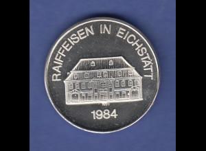 Silbermedaille Stadt Eichstätt Raiffeisen in Eichstätt 1984