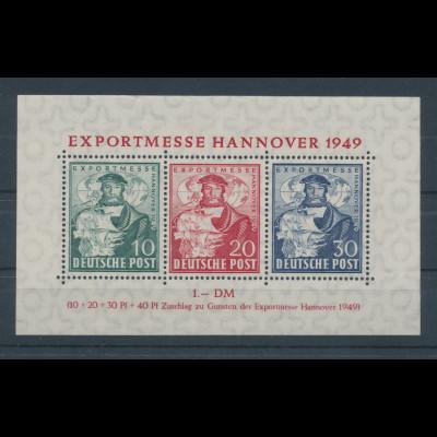 Bizone 1949, Exportmesse Hannover, Blockausgabe, Mi.-Nr. Block 1 **