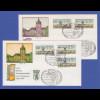 Berlin ATM Versandstellen-Satz VS2 5 Werte 5-65-75-85-145 auf 2 FDC's