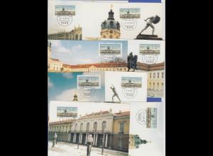 Berlin ATM Versandstellen-Satz VS3 8 Werte 20-350 Pfg. auf 8 Maximumkarten