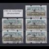 Berlin ATM Versandstellen-Satz VS2 5 Werte 5-65-75-85-145 mit Nr. und ET-So-O