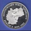 Silbermedaille Berlin 9. November 1989 / gepr. 1990 Ag999 20g.