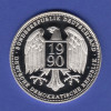 Silbermedaille Deutsche Währungsunion 1990 Ag999 20g.