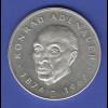Silbermedaille Zweiter Europa Taler: Konrad Adenauer Ag925 26g.