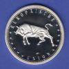 Silbermedaille Europäische Union . Parlament Stier Ag999 14,7g