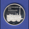 Silbermedaille Geschichte der Eisenbahn, Adler 1835 Ag999 8,2g