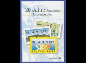 ATM Deutschland offizielles Faltblatt der Post, darin 7 ATM mit So-O Berlin Köln
