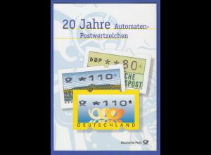 ATM Deutschland offizielles Faltblatt der Post, darin 6 ATM mit So-O Berlin Köln