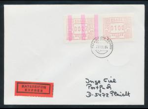 Griechenland Frama-ATM mit ENDSTREIFEN, Aut.-Nr. 001 Wert 0027 auf Expr.-Brief