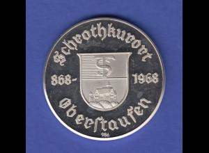 Silbermedaille 1100 Jahre Schrothkurort Oberstaufen, Bayern Ag986 17,2g