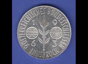Silbermedaille 9. österreichisches Bundesschiessen Innsbruck 1963 Ag835 14,5g