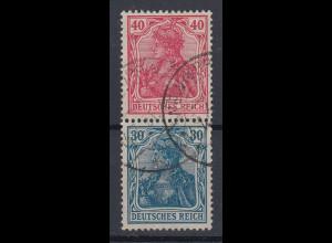 Deutsches Reich Germania-Zusammendruck 40/30 Mi.-Nr. S21a gestempelt