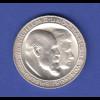 Dt. Kaiserreich Silbermünze 3 Mark Wilhelm II. & Charlotte v. Württemberg 1911 F