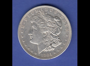 USA Silver Morgan Dollar 1921