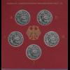 Bundesrepublik 10DM 1999: SOS-Kinderdörfer 5 Münzen ADFGJ in PP im Folder