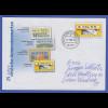 Ganzsache 25 Jahre ATM mit ATM-Wertstempel 0,55 mit O BERLIN Philatelie 2.1.06