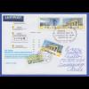 Ganzsache 30 Jahre ATM mit Zufrankatur gelaufen nach Chile, So.-O BONN 3.1.11