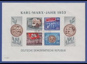 DDR 1953 Karl Marx Block Mi.-Nr. Block 9B YI echt gest. HILDBURGHAUSEN