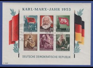 DDR 1953 Karl Marx Block Mi.-Nr. Block 8B YI echt gest. HILDBURGHAUSEN