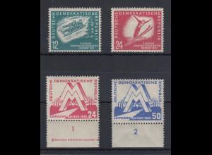 DDR 1951 Lot 4 Sondermarken Mi.-Nr. 280-81 und 282-83 postfrisch **