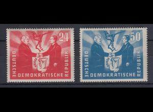 DDR 1951 Deutsch-Polnische Freundschaft Mi.-Nr. 284-285 Satz 2 Werte **
