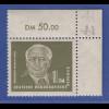 DDR 1953 Wilhelm Pieck Mi.-Nr. 325 zXII ** gpr. Eckrandstück oben rechts