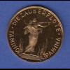 Goldmedaille Wolfgang Amadeus Mozart Oper Die Zauberflöte 5,00g Gold Au900