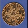 Goldmedaille Bundeskanzler Ludwig Erhard 1 Dukat 3,49g Gold Au980