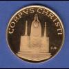 Goldmedaille Corpus Christi Justificate Gratia Ipsius Lamm 7,06g Gold Au900