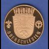 Goldmedaille Oberschlesien / Niederschlesien jeweils Wappen 10,38g Gold Au900