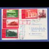 VR China 1972 Postkarte gelaufen nach Deutschland, Sondermarken-Frankatur