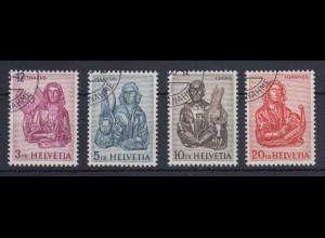 Schweiz 1961 4 Evangelisten Mi.-Nr. 738-741 Satz 4 Werte einheitl. gestempelt