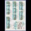 Schweiz 1984 alle Zusammendrucke aus NABA Zürich Block auf großem Ersttagsbrief