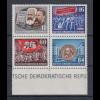 DDR Viererblock aus Karl-Marx-Block Mi.-Nr. 392-395 A Y II postfrisch **