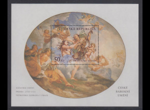 Tscheschische Republik Block Barock-Kunst Vaclav V. Reiner Mi.-Nr Block 15 **