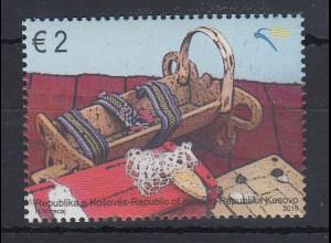 Kosovo 2015 Holzspielzeug Mi.-Nr. 315 Einzelmarke aus Block 31 **