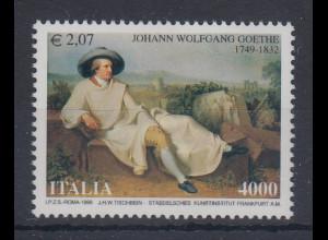 Italien 1999 Goethe in Italien Gemälde von J.H.W. Tischbein Mi.-Nr. 2645 **