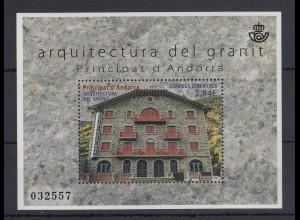 Andorra Spanische Post 2015 Granit-Architektur Mi.-Nr. Block 10 **