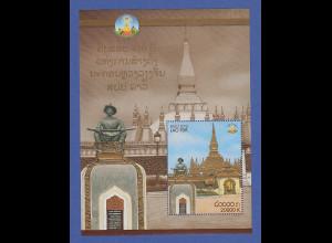 Laos 2010 Blockausgabe Hauptstadt Vientiane Grosser Stupa Mi.-Nr. Block 225 **