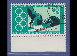 Bund 1976 Olympische Spiele Montreal Plattenfehler grüner Fleck, Mi.-Nr. 886 I O