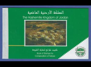 Jordanien 2000 Naturschutz Mi.-Nr. 1755-1760 Satz 2x im Markenheftchen **