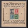 SBZ Thüringen großer Weihnachtsblock t-Papier Mi.-Nr. Block 2t **