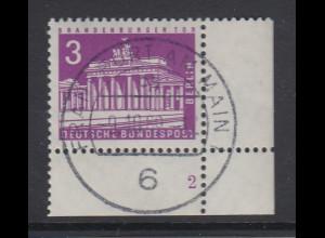 Berlin 3 Pfennig Brandenburger Tor Mi.-Nr 231 Ecke mit Formnummer 2 gestempelt