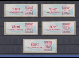 Frankreich 1989 Sonder-ATM SENAT Satz 2,00-2,20-3,70-6,20-11,00 **