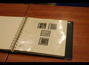Frankreich SAFE-Vordruckblätter 1970-1978, neues System gebr. im gn. Ringbinder