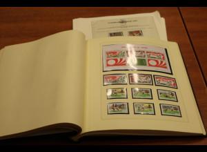 Fußball-WM 1974 Sammlung insbes. internat. Ausgaben auf selbstgest. Blättern