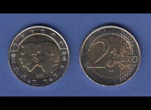 Belgien 2-Euro Münze 2005 Wirtschaftsunion mit Luxemburg bankfrisch aus Rolle