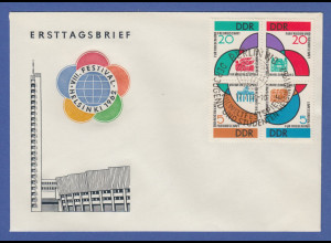 DDR 1962 Weltfestspiele der Jugend Helsinki Mi.-Nr. 901-04 Viererblock auf FDC